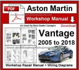 Aston Martin Vantage Service Repair Workshop Manual
