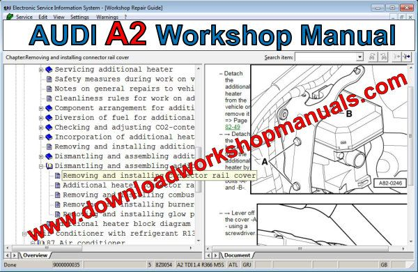 audi a2 workshop manual