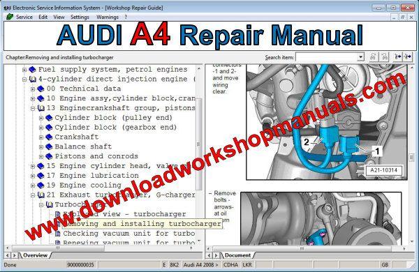 Audi A4 Workshop Repair Manual