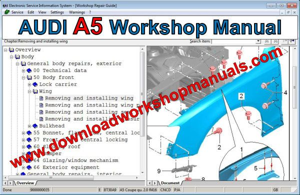 audi a5 workshop manual