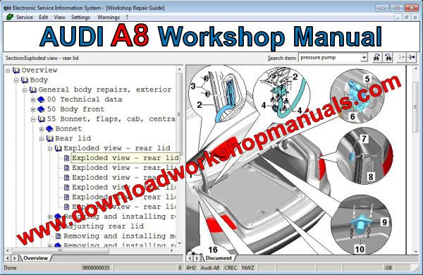 audi a8 workshop manual