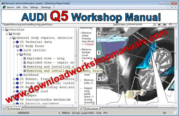 audi q5 workshop manual