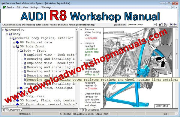 audi r8 workshop manual