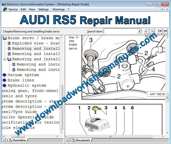 AUDI RS5 Repair Manual