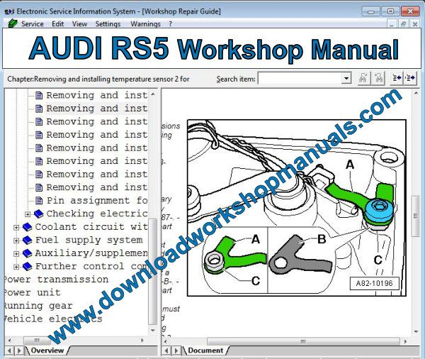 AUDI RS5 Workshop Manual