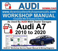 AUDI A7 2010 to 2020 PDF Workshop Service Repair Manual