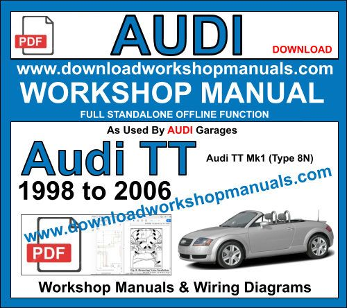 audi tt service repair workshop manual pdf