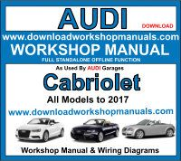 Audi Cabriolet Service Repair Workshop Manual