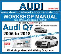 Audi Q7 Service Repair Workshop Manual