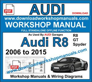 Audi r8 2006 to 2015 repair workshop manual