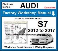 Audi S7 Service Repair Workshop Manual