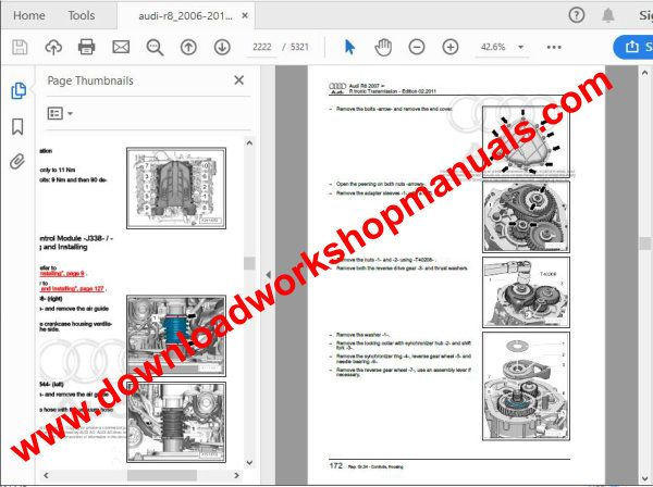 audi r8 repair workshop manual pdf download