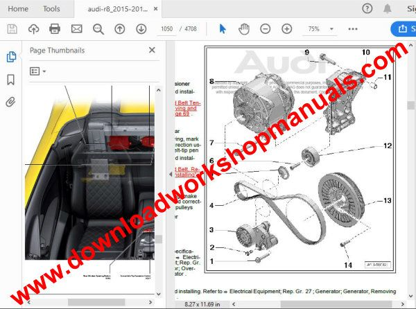 Audi Rs7 Workshop Repair Manual