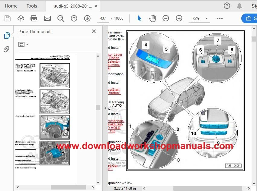 Audi q5 workshop service repair manual pdf download