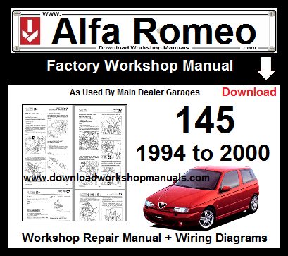 Alfa Romeo 145 Service Repair Workshop Manual Download