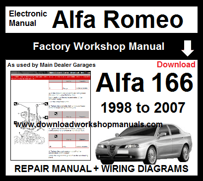 Alfa Romeo 166 Service Repair Workshop Manual Download