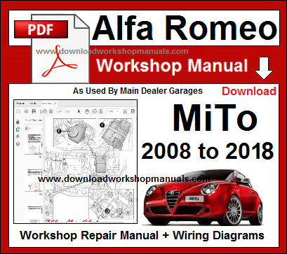 Alfa Romeo Mito Service Repair Workshop Manual