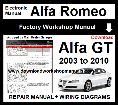 Alfa Romeo GT Service Repair Workshop Manual Download