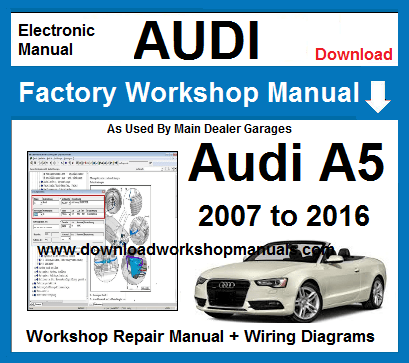 audi a5 workshop service repair manual download