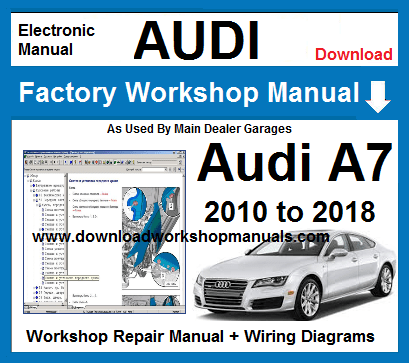 AUDI A7 WORKSHOP REPAIR MANUAL