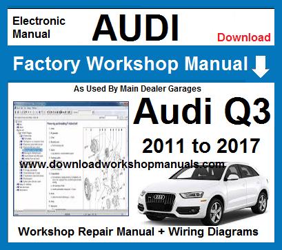 audi q3 workshop service repair manual download
