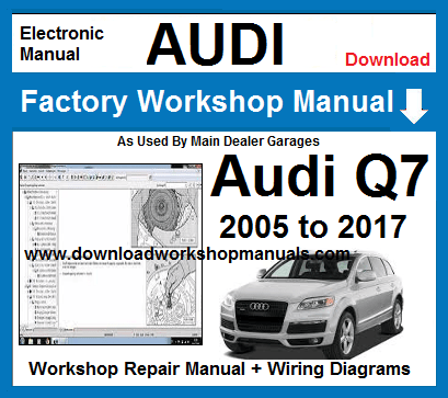 Audi Q7 Workshop Repair Manual