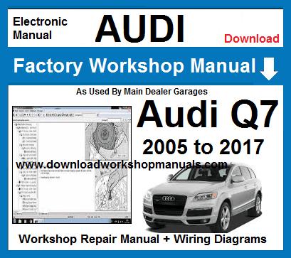 audi q7 workshop service repair manual download