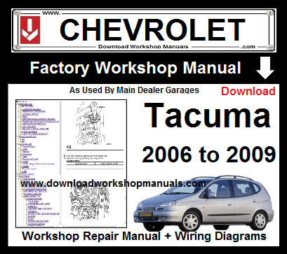 Chevrolet Tacuma Workshop Service Repair Manual Download