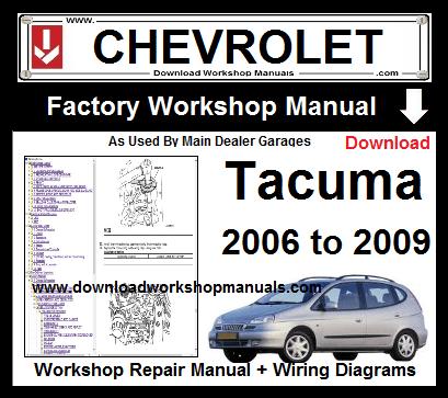 Chevrolet Tacuma Workshop Repair Manual Download