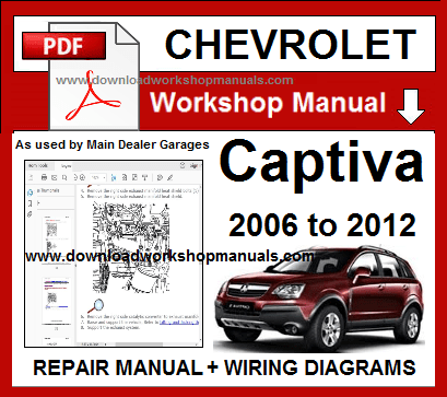 chevrolet captiva repair service workshop manual download