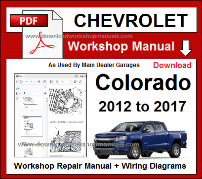 chevrolet colorado service repair workshop manual download