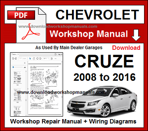 chevrolet cruze service repair workshop manual download