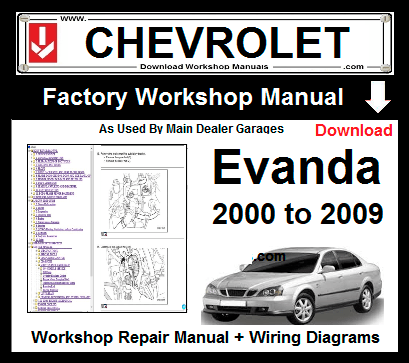 chevrolet evanda service repair workshop manual download