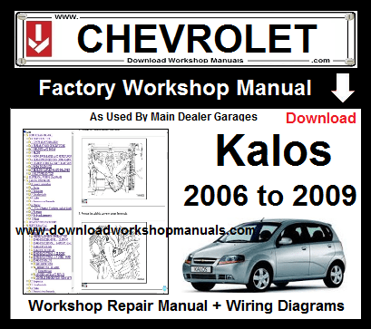 Chevrolet Kalos Workshop Repair Service Manual Download