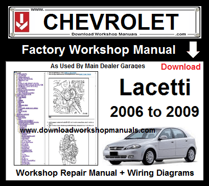 chevrolet lacetti service repair workshop manual download