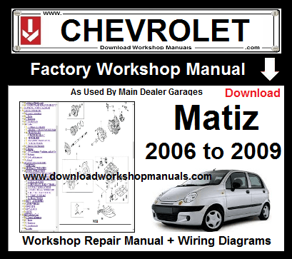 Chevrolet Matiz Workshop Repair Service Manual Download