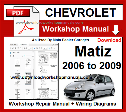 chevrolet matiz repair service workshop manual download