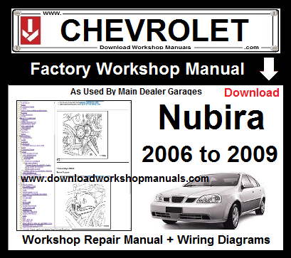 Chevrolet Nubira Workshop Repair Service Manual Download