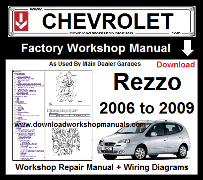 chevrolet rezzo service repair workshop manual download