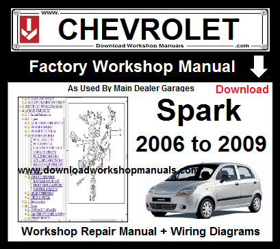 chevrolet spark service repair workshop manual download