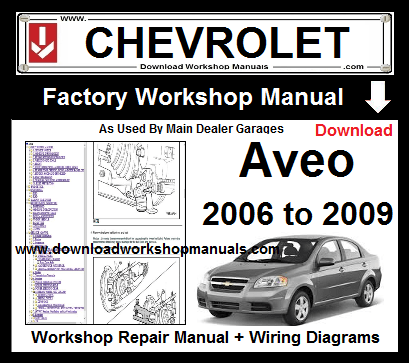 chevrolet aveo service repair workshop manual download