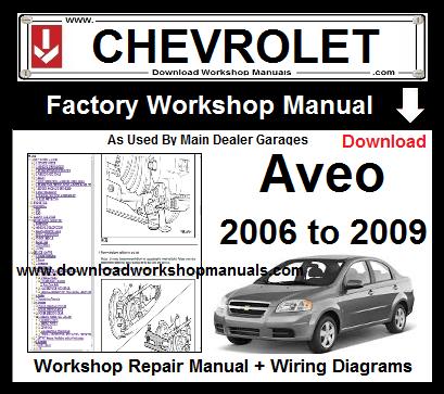 2007 chevy aveo repair manual