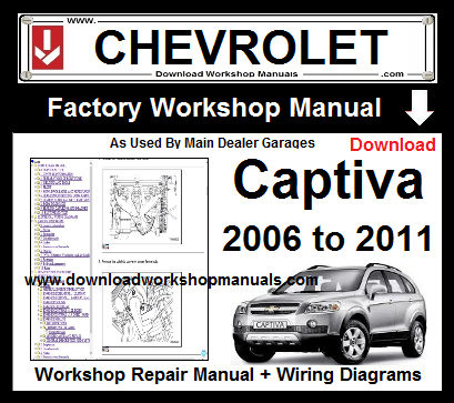 Chevrolet Captiva Workshop service Repair Manual Download