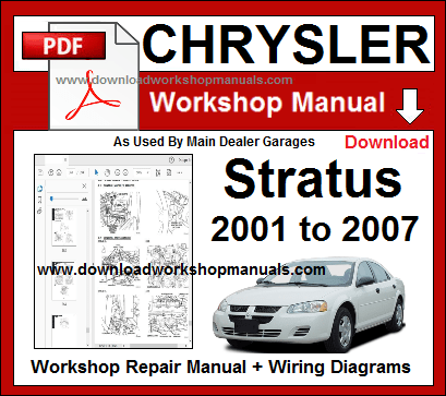 Chrysler Stratus Workshop Service Repair Manual Download