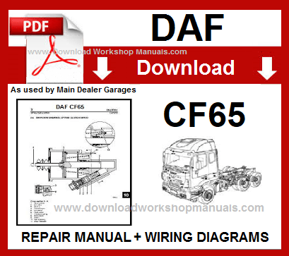 Daf CF65 workshop repair manual