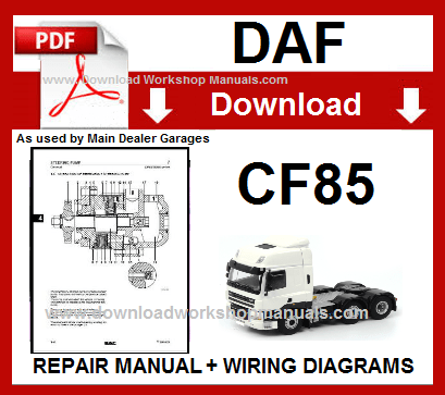 Daf CF85 workshop repair manual