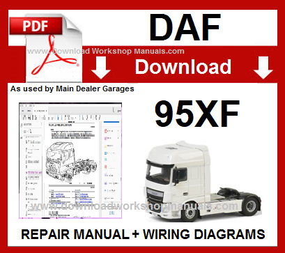 Repair manual for daf 95xf / daf xf95, cars from 1997: the book.