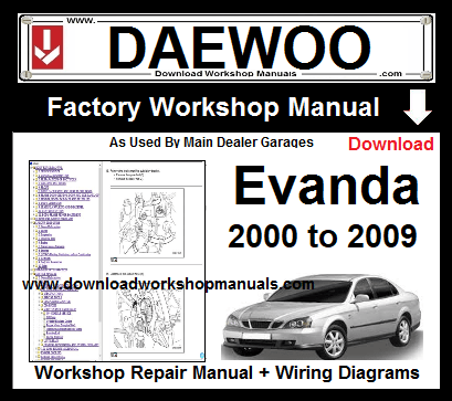 Daewoo Evanda Workshop Service Repair Manual Download