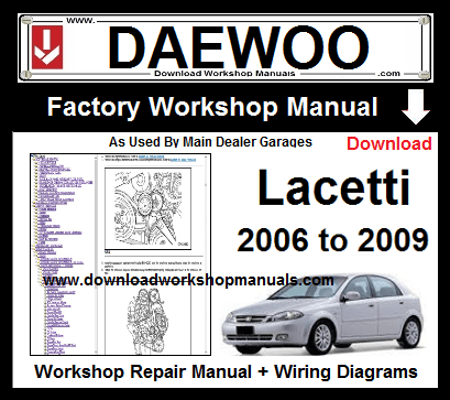Daewoo Lacetti Workshop Service Repair Manual Download