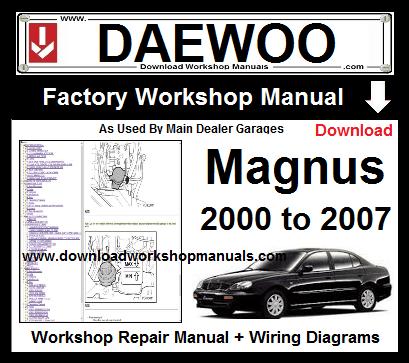Admirable Daewoo Magnus Workshop Repair Manual Download Wiring Digital Resources Dimetprontobusorg